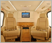 Interior of Private Helicopter Charter